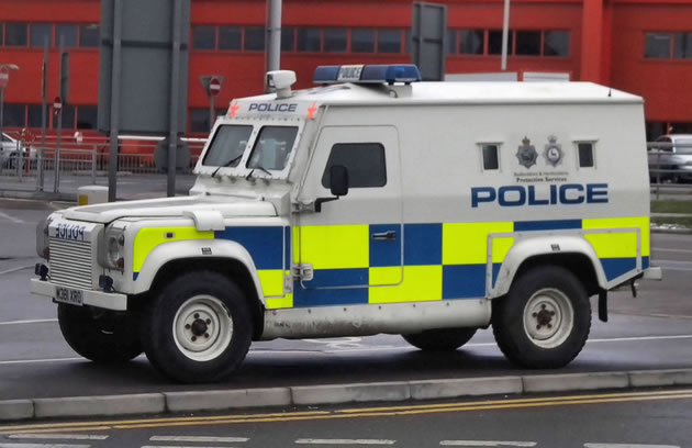 Armoured Police Land Rover