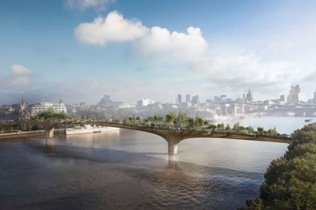 The total cost to the taxpayer of the Garden Bridge plan is an estimated £43 million