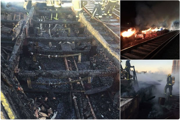 fire at Vauxhall South West Trains cancelled