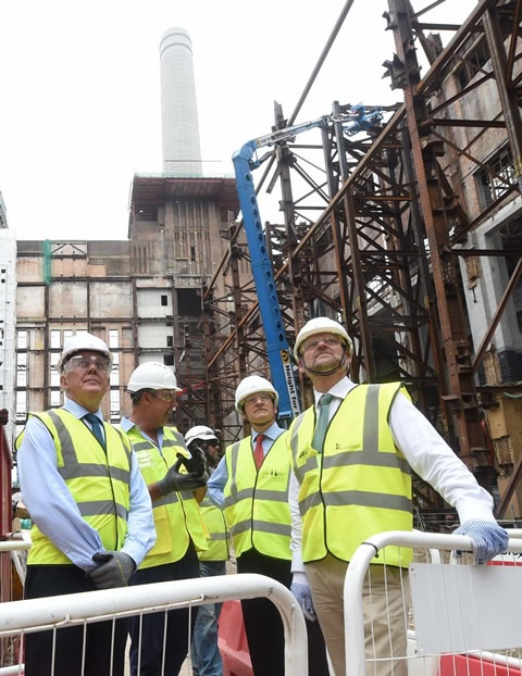 Historic England Inspects Progress At Battersea Power Station