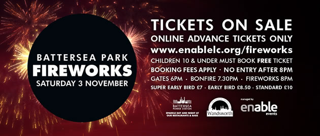 Battersea Park Fireworks - Get Your Tickets here
