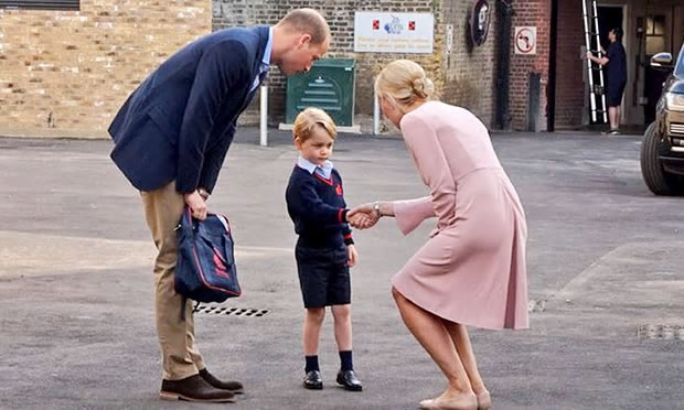 Prince George Starts School In Wandsworth