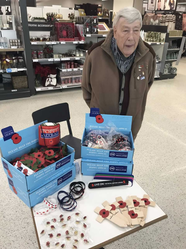 Poppy Appeal At Sainsbury's Nine Elms