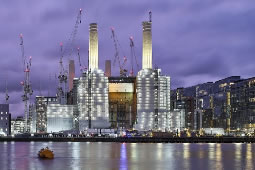 Work Begins Again on Battersea Power Station