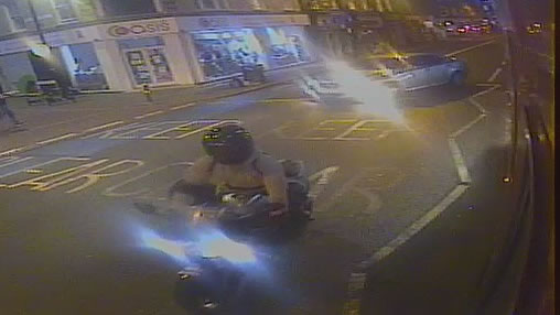 The two motorcyclists sought were on Battersea Park Road in the seconds before the collision.